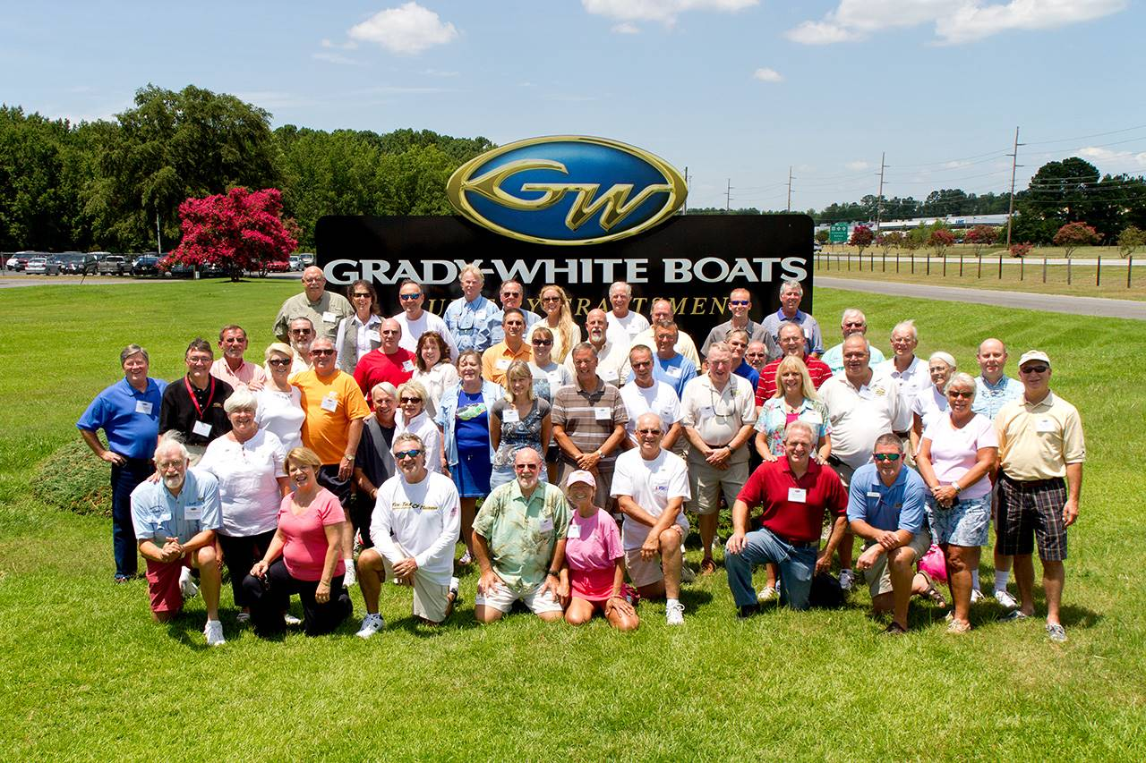 Grady Clubs often visit the Grady-White plant for a tour.