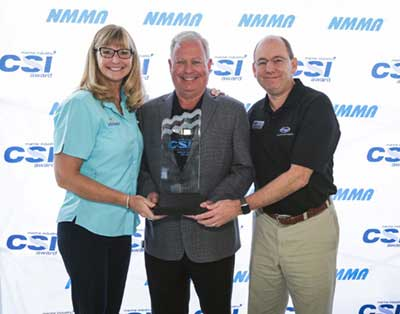 Grady-White is presented the 2017 Customer Satisfaction Index Award and the Miami Boat Show.