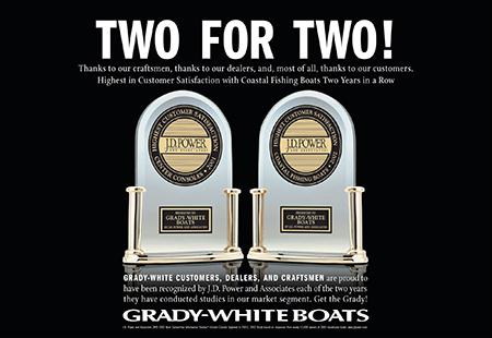 Grady-White wins it's second J.D. Power Award.