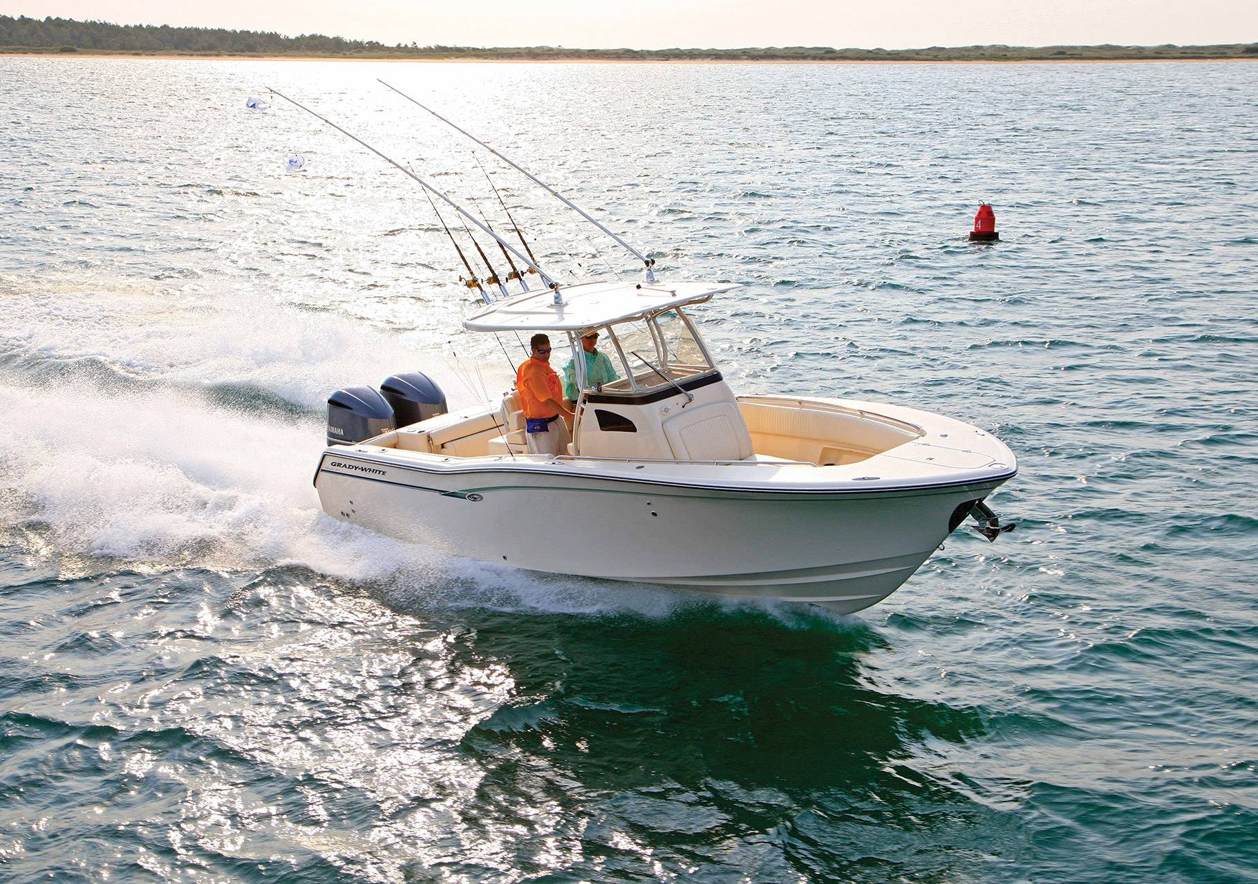A Grady-White center console heads out for a day of fishing.