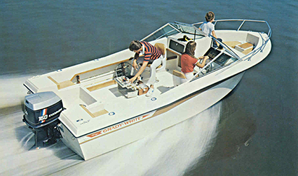 Grady's dual console boat, the Tarpon 190, was introduced in the 1980s.