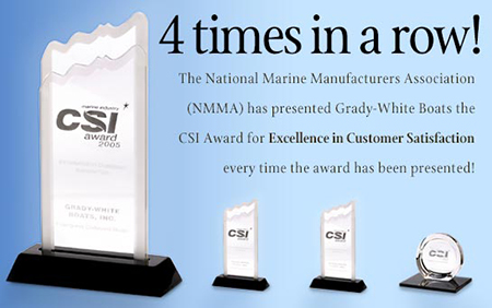 Grady-White presented with their 4th consecutive Customer Satisfaction Index Award.
