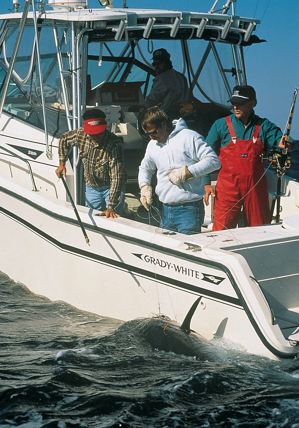 Tuna fishing on a Grady-White boat.