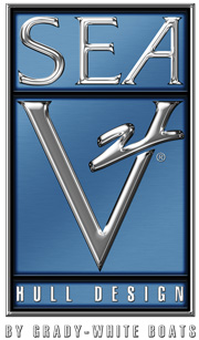 The renowned SeaV2 hull design logo.