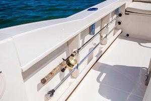 Grady-White Fisherman 180 18-foot center console rod storage