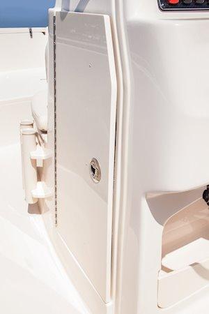 Grady-White Fisherman 180 18-foot center console lockable storage