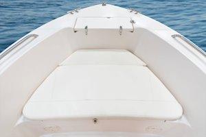 Grady-White Fisherman 180 18-foot center console forward platform cushions