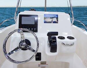 Grady-White Fisherman 180 18-foot center console steering wheel
