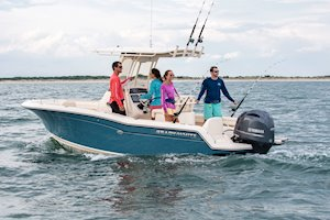 Grady-White Fisherman 216 21-foot center console fishing boat group