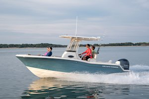 Grady-White Fisherman 216 21-foot center console boat running