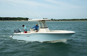 Grady-White Fisherman 236 23-foot center console fishing boat starboard side