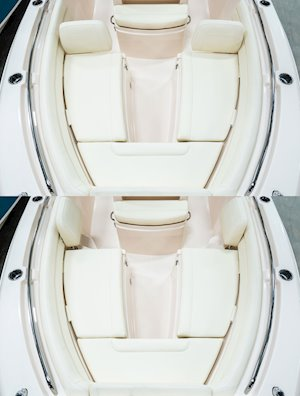Grady-White Fisherman 236 23-foot center console forward facing seating