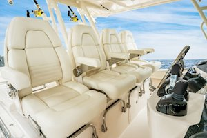 Grady-White Canyon 456 45-foot center console fishing boat sea command center captain's chairs