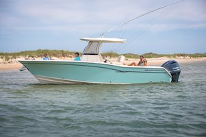 Grady-White Canyon 271 27-foot center console leisure boat beach
