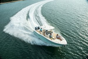 Grady-White Canyon 271 27-foot center console boating running bow forward