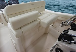 Grady-White Canyon 271 27-foot center console flip-up bolsters