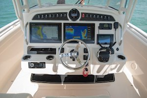 Grady-White Canyon 326 32-foot center console helm overall