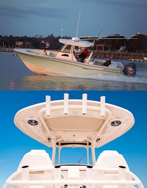 Grady-White Canyon 306 30-foot center console t-top