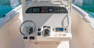 Grady-White Canyon 306 30-foot center console helm overall