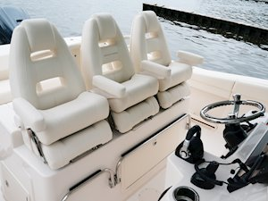 Grady-White Canyon 336 33-foot center console helm seats