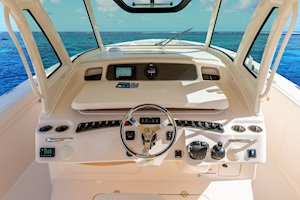 Grady-White Canyon 376 37-foot center console helm overall