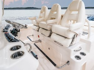 Grady-White Canyon 376 37-foot center console helm seats