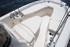 Grady-White 251 CE 25-foot Coastal Explorer fishing boat forward console lounge