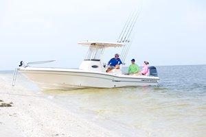 Grady-White 251 CE 25-foot Coastal Explorer fishing boat on beach