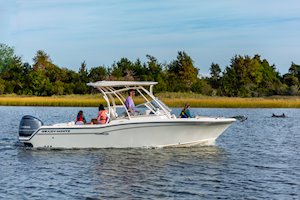 Grady-White Freedom 235 23-foot dual console family cruising