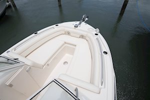 Grady-White Freedom 235 23-foot dual console port and starboard bow cushioned seating