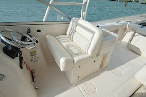Grady-White Freedom 255 25-foot dual console boat helm seating