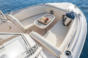 Grady-White Freedom 275 27-foot dual console boat bow overall