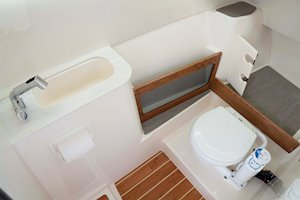 Grady-White Freedom 285 28-foot dual console boat head port console