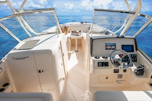 Grady-White Freedom 285 28-foot dual console boat helm and consoles