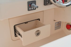 Grady-White Freedom 285 28-foot dual console boat helm storage drawer