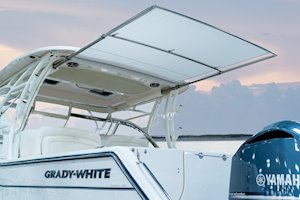 Grady-White Freedom 335 33-foot dual console fishing boat cockpit sureshade cover