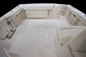 Grady-White Freedom 375 37-foot dual console fishing boat cockpit