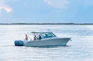 Grady-White Freedom 375 37-foot dual console fishing boat fishing inshore