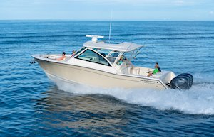 Grady-White Freedom 375 37-foot dual console fishing boat running