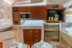 Grady-White Boats Express 330 33-foot Express Cabin Boat galley