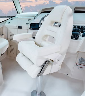Grady-White Boats Express 330 33-foot Express Cabin Boat command elite helm chair