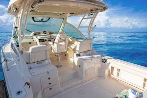 Grady-White Boats Express 330 33-foot Express Cabin Boat cockpit forward