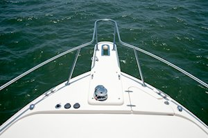 Grady-White Boats Express 330 33-foot Express Cabin Boat bow pulpit and bow rail
