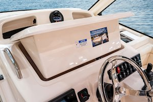 Grady-White Boats Express 330 33-foot Express Cabin Boat electromechanically operated electronics enclosure