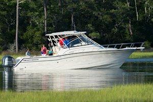 Grady-White Boats Express 330 33-foot Express Cabin Boat cruising
