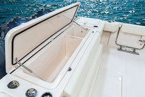 Grady-White Boats Express 370 37-foot Express Cabin boat aft fish box