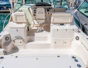 Grady-White Boats Express 370 37-foot Express Cabin boat cockpit forward