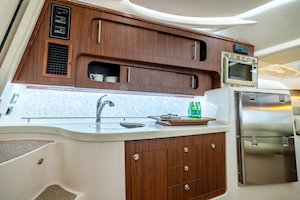 Grady-White Boats Express 370 37-foot Express Cabin boat galley
