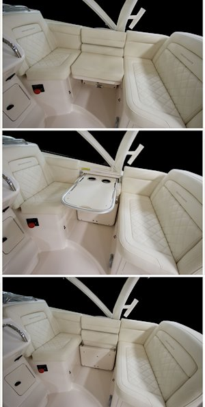 Grady-White Boats Express 370 37-foot Express Cabin boat starboard surround seating