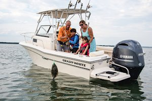 Grady-White Boats Adventure 208 20-foot Walkaround Cabin fishing boat family fishing